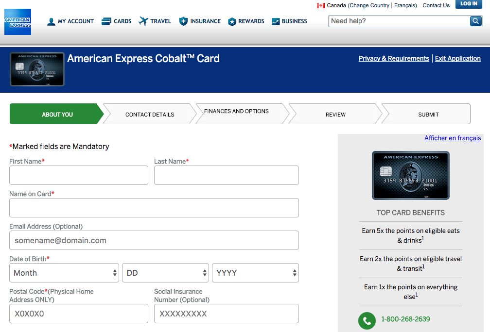 New American Express Cobalt Card Now Available In Canada
